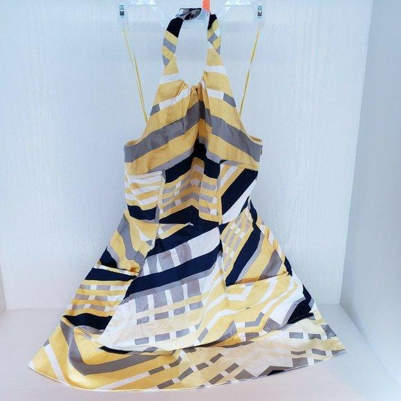 Jessica Simpson Halter Fit & Flare Mini Dress